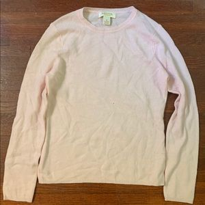 Baby Pink Peck & Peck Cashmere Sweater Sz M